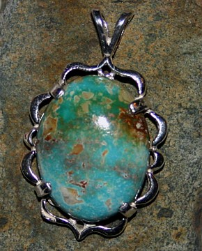 Natural Nevada Turquoise, Royston Pendant Jewelry