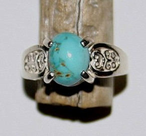 Beautiful Natural Turquoise Ring 7.50 US Natural Turquoise Ring Fashion Jewelry Unique Jewelry Artificial Ring