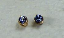 tanzanite round earrrings