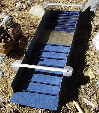 Home built dredge sluice box