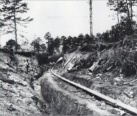 Historic Ground Sluicing And River Diversion Gold Placer