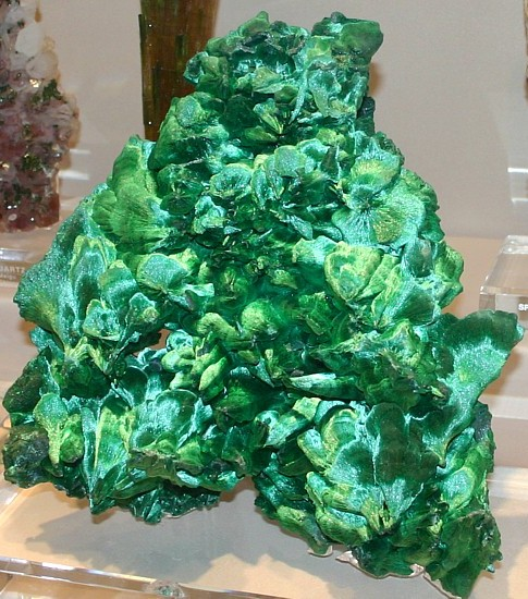silky malachite specimen