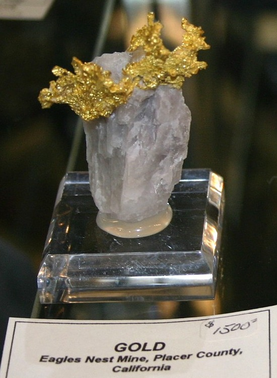 Crystal Gold, Eagles Nest Mine, Michigan Bluff, CA