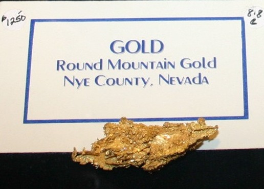 Round Mountain, Nevada Crystaline Gold