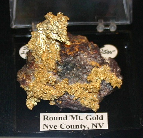 Crystal Gold, Round Mtn, Nye Co. Nevada