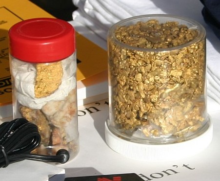 Two Large Containers of Arizona Gold Nuggets