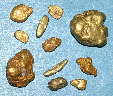 The Author's Waterworn Gold Nuggets